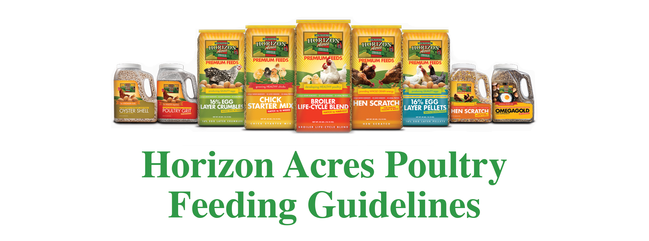 Horizon Acres Poultry Feeding Guidelines
